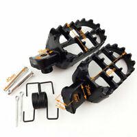 Pair Black Aluminum Motorcycle Foot Pegs Footrest Padel For Honda CR CRF Yamaha