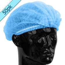 Quality Disposable BLUE Mob Cap hair net head covers Pk of 50 Mop Clip