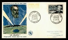 DR WHO 1955 FRANCE FDC JULES VERNE & NAUTILUS  C238704