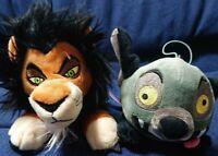 The Lion King  Lying Down Plush Doll 16cm Set of 2 Scar Ed Disney Official Gift