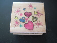 Hearts a Poppin Rubber Stamp by Embossing Arts