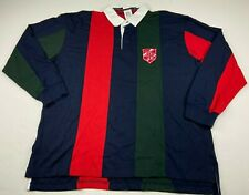 Tommy Hilfiger Men's Striped Colorblock Rugby Polo Team Crest NWT Size 2XL