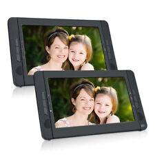 """2X10.1"""" Auto Tragbarer DVD Player TFT Bildschirm Kopfstützen Monitor USB SD AKKU"""