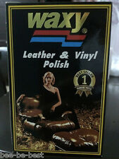 Waxy Leather & Vinyl Polish Black For Cars Shoes Bags 125 ml.
