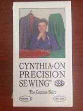 Cynthia On Precision Sewing VHS The Couture Skirt - New
