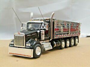 Dcp Custom black Kenworth W900L daycab quad axle MAC dump truck no box 1/64