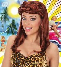 Ladies Brown Pin Up Girl Wig 1940'S Model Audrey Hepburn War 40'S Fancy Dress