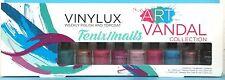 CND Vinylux Pinkies ART VANDAL 9-pc Mini Set~8 Nail Polish Colors + Top Coat NEW
