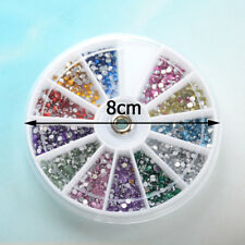 12Colors Nail Accessories 3D Jewelry Gems Art Glitter Shiny Slice Case Beautiful