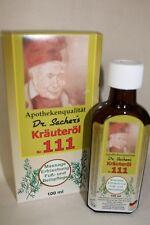 (4,90€/100ml)  Kräuteröl Nr.111 Dr.Sachers 100 ml Einreibung Massageöl