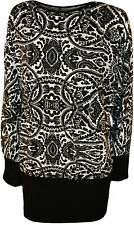 Scoop Neck Hip Length Paisley Tops & Shirts for Women