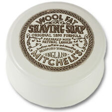 Mitchells Wool Fat Ceramic Lathering Bowl/Dish and Lanolin Shaving Soap