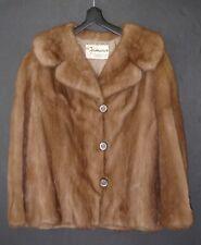 """Vtg """"The Famous"""" Portsmouth VA Genuine Real Fur Coat Jacket 25"""" L 17"""" Shoulder"""