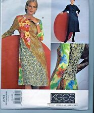 Koos Van Den Akker Vogue Sewing Pattern Asymetrical Knit Dress UNCUT 12 14 16