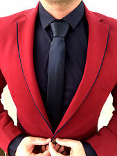 AX Rosso Bordeaux Giacca a vento in Design BLAZER jeans colletto arredata