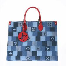 Louis Vuitton on The Go GM Monogram Shoulder Bag 2019 Denim M44992