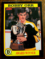 1991-92 SCORE HOCKEY BOBBY ORR INSERT AWARD WINNER CARD NO #
