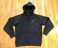 Supreme Fall /Winter 2017 Tonal S Logo Hooded Sweatshirt Pullover Black Medium