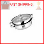 Yamde 2 Piece Stainless Steel Stack and Steam Pot Set - and Lid,Steamer Sauc …