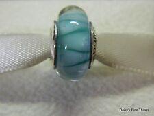 NEW! AUTHENTIC PANDORA CHARM BLUE LOOKING GLASS MURANO #790923   P