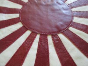Multi Piece Japan Flag Rising Sun Leather Blood Chit Patch Flagge Lederjacke