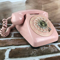 1960's Automatic Electric Pink Monophone Telephone Rotary Dial