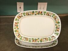 Set of 2 Noritake Progression Homecoming 13 1/2 inch Oval Serving Platters