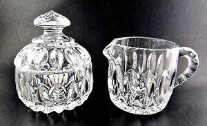 GORHAM CRYSTAL GLASS SUGAR & CREAMER NEW IN BOX (E61)