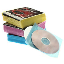100x CD DVD DISC Clear Cover Storage Case Plastic Sleeve Wallet Holder Packs Wow