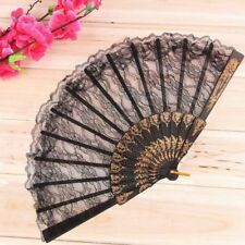 Bar Dancing Fancy Dress Folding Lace Hand Fan Chinese Vintage Costume Party