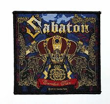 SABATON - CAROLUS REX - WOVEN PATCH - BRAND NEW - MUSIC 2642