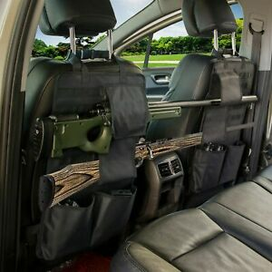 Hunting Military Tactical Car Seat Back Gun Rack Sling Holder with MOLLE System
