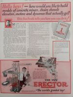 1925 OLD MAGAZINE PRINT AD, A.C. GILBERT, ERECTOR, THE WORLD'S Largest TOY SET