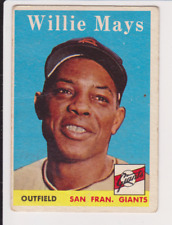 LOW STARTING BID 1958 Topps #5 WILLIE MAYS NEW YORK GIANTS Check out the stats