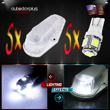 5pcs Clearance Cab Marker Light 15442 Lens + T10-5050 White LED for Ford Pickup