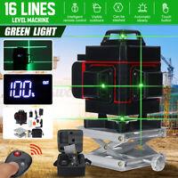 12/16 Line Laser Level 360° 3D Green Laser Tool Auto Self-Leveling Cross Measure