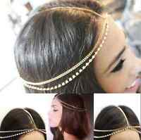 Head Chain Headband Headpiece Hair Band Headwear Rhinestone Hippie Retro Jewelry