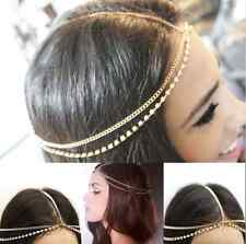 Head Chain Headband Headpiece Hair Band Headwear Rhinestone Hippie Retro Jewelry