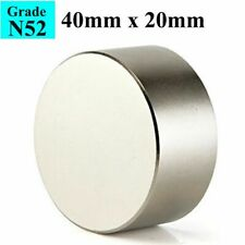 Block N52 Large Neodymium Rare Earth Magnet Big Super Strong Huge 40mm*20mm