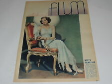 Sztuka i Film 42/1934 polish magazine Kitty Carlisle, Fritz Schultz, P Holmes