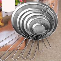 Kitchen Stainless Steel Fine Mesh Strainer Colander Sieve Sifter Flour Home Tool