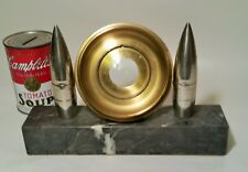 1938 Ww2 trench art deco photo frame desk table german gold ormolu chrome marble