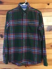 Johnnie B by Mini Boden Plaid Flannel Shirt Green/Blue/Orange/Red Boys Sz 13-14Y