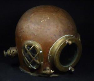 RARE!!!Antique Original Copper Scuba Diving Helmet