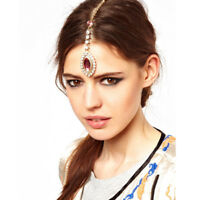 Women Girls Head Chain Jewelry Metal Rhinestone Headband Hair Band Head Piece