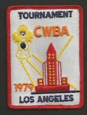 """CWBA TOURNAMENT LOS ANGELES 1979   VINTAGE PATCH 3 """""""
