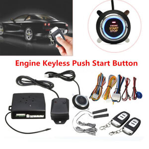Universal Immobilizer RFID Car Entry Security Kit Keyless Start Stop Push Button
