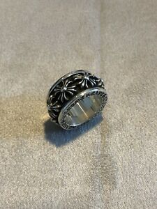 Chrome Hearts Crosses Spinner Ring Sterling Silver 925 Size 8 Preowned Authentic