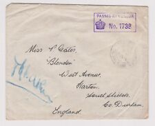 (K114-8) 1940s GB WWII envelope field post censor 138 to Durham (H)