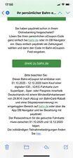 10 Euro Deutsche Bahn eCoupon Gutschein - Sofortversand - Auch Ohne Bahncard